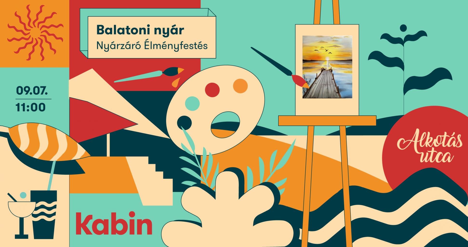 Nyárzáró élményfestés a Kabinban