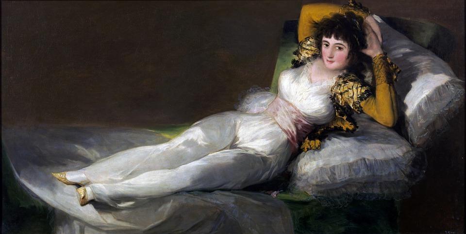 Az egyik leghíresebb akt kép, amiért Goyát száműzték Spanyolországból: Felöltözött Maja