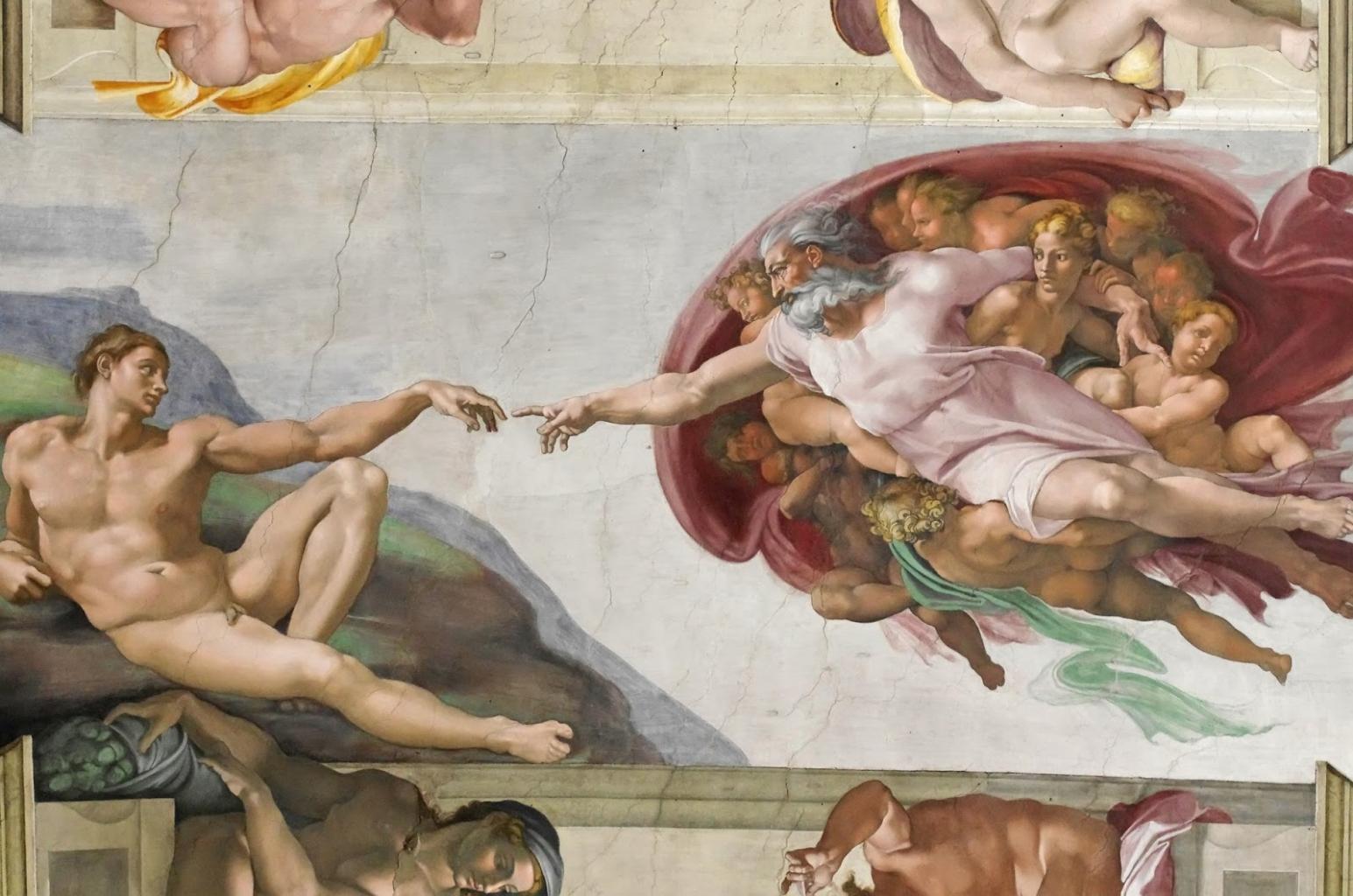 Az Ádám teremtése című freskóval Michelangelo jóval meghaladta a korát, hiszen pontosan ábrázolta az emberi agyat.