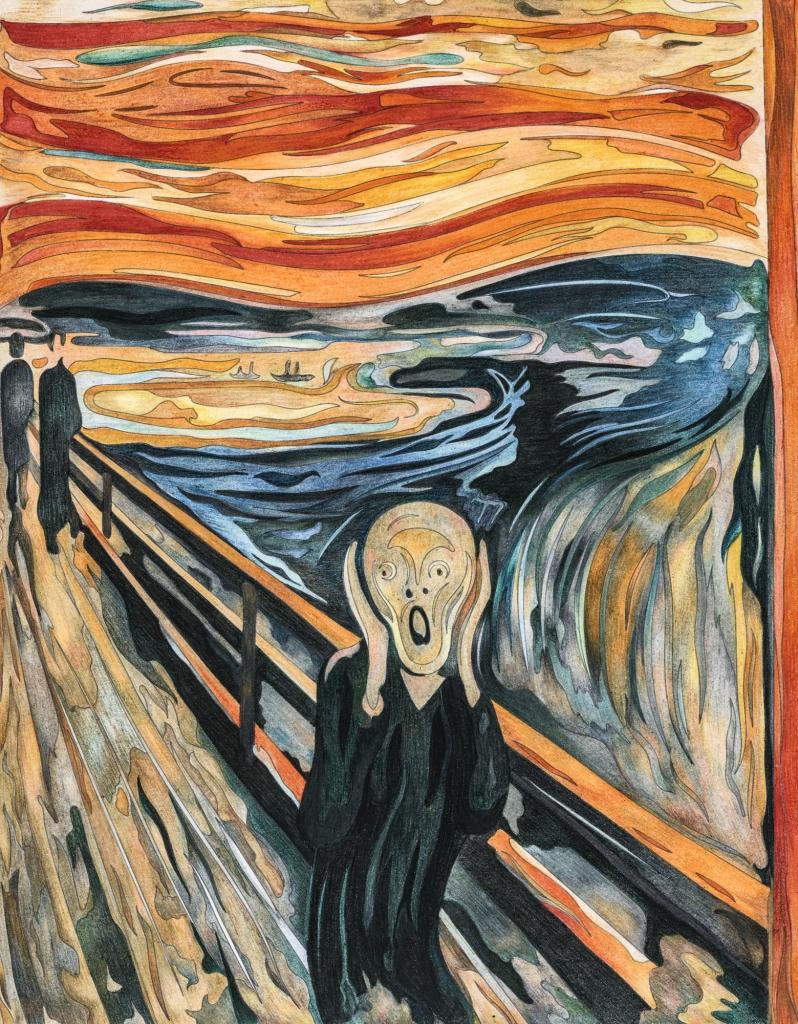 A sikoly - expresszionista festmény