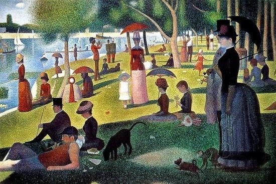 Georges Seurat, Vasárnap délután a La Grande Jatte szigeten - Plein air