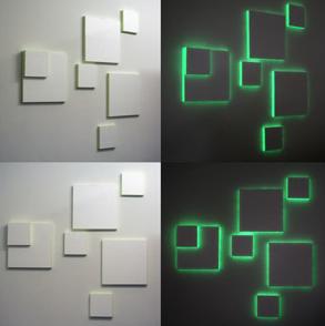 fluoreszkáló festék - világító festmény