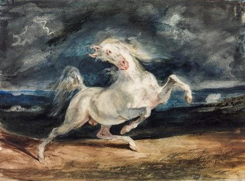 Romantika, Delacroix - Vihartól megvadult  ló