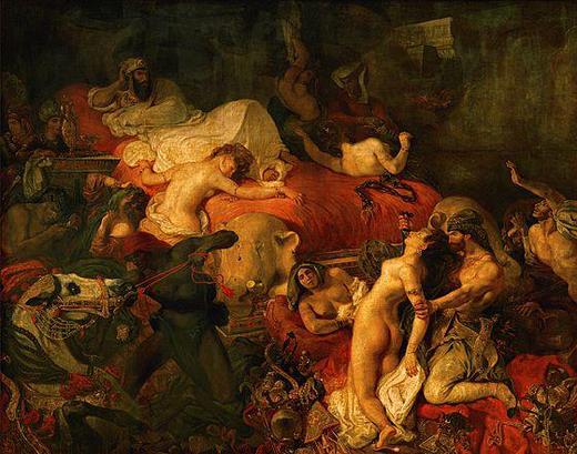 Romantika, Delacroix - Sardanpal halála című festmény