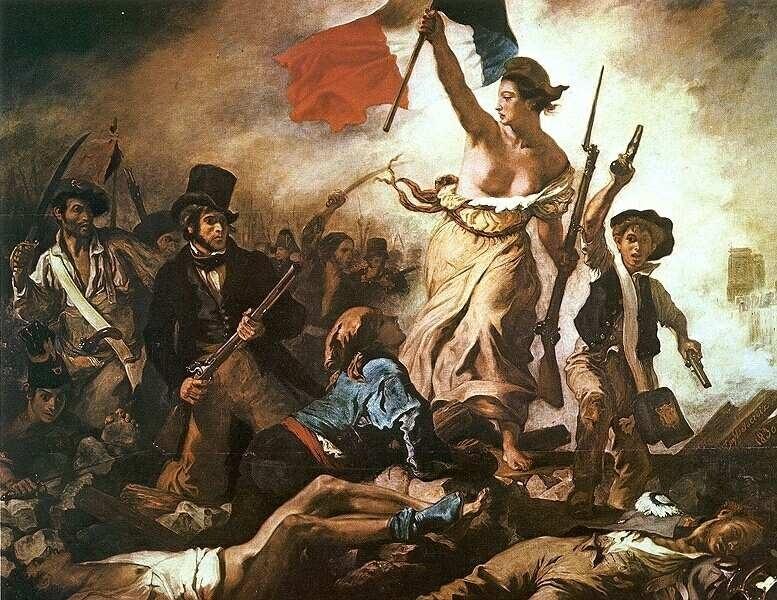 Romantika, Delacroix - A szabadság vezeti a népet