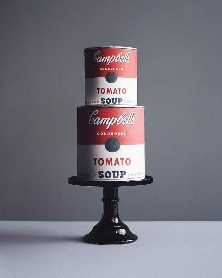 Andy Warhol - Leveskonzerv tortán, Pop Art