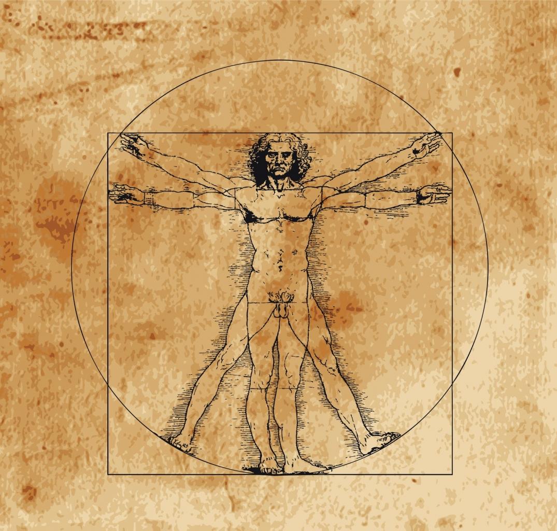 Leonardo Da Vinci - Vitruvius tanulmány