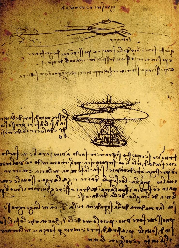 Leonardo Da Vinci - tervrajz
