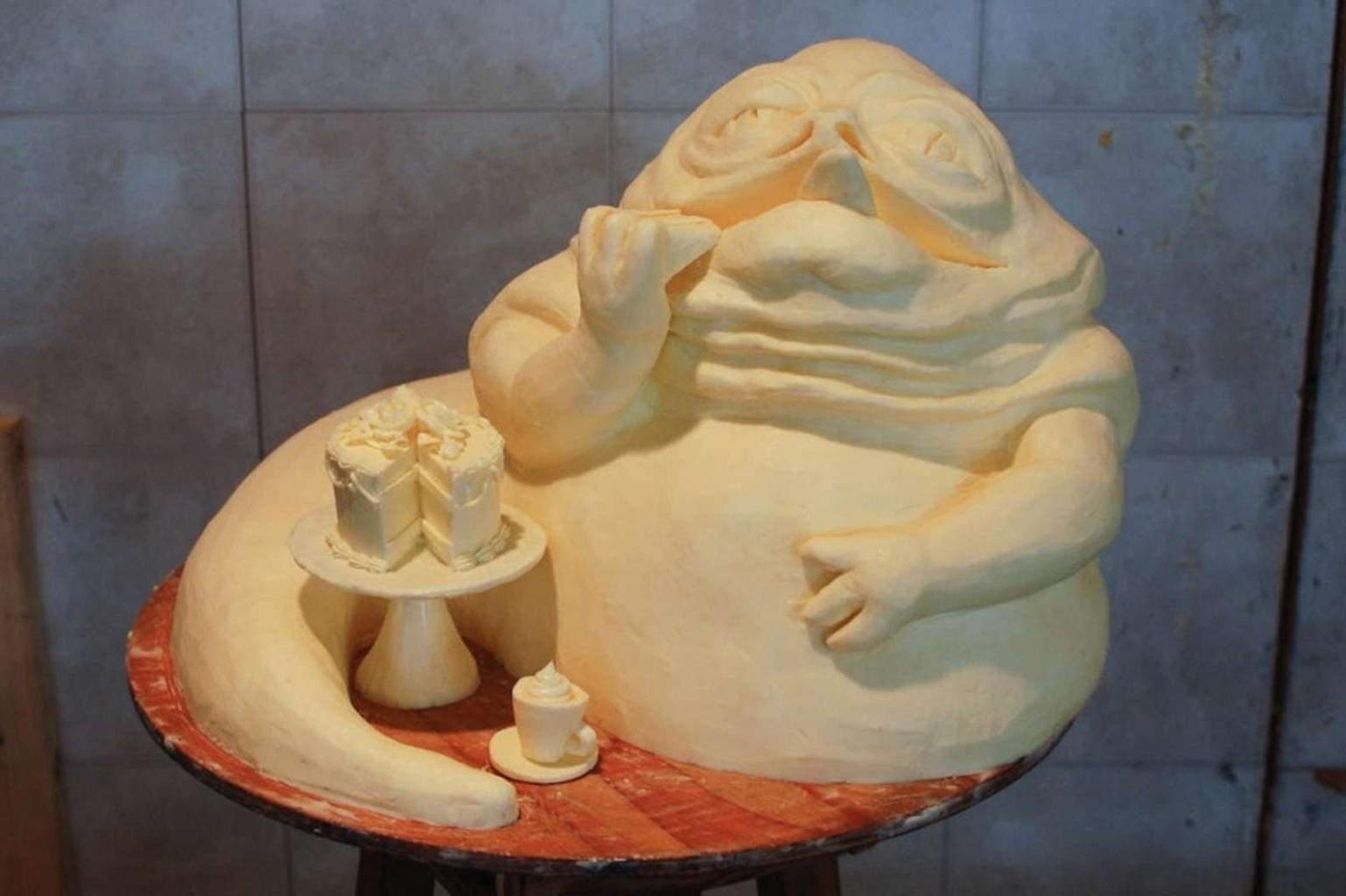 Ehető alkotások - Jabba vajból