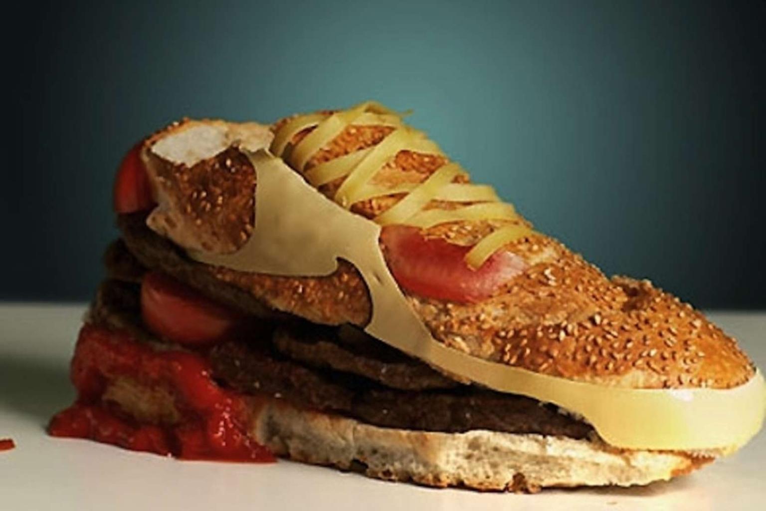 Ehető alkotások - hamburgercipő