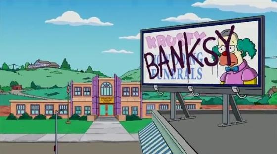 Banksy Simpson család