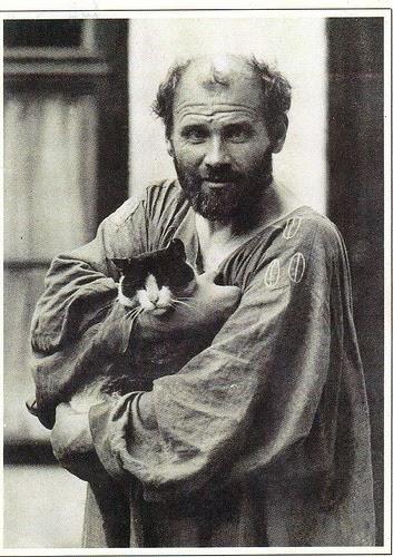 Gustav Klimt és a macskája