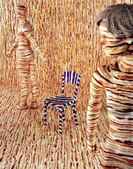 Sandy Skoglund - bacon installáció