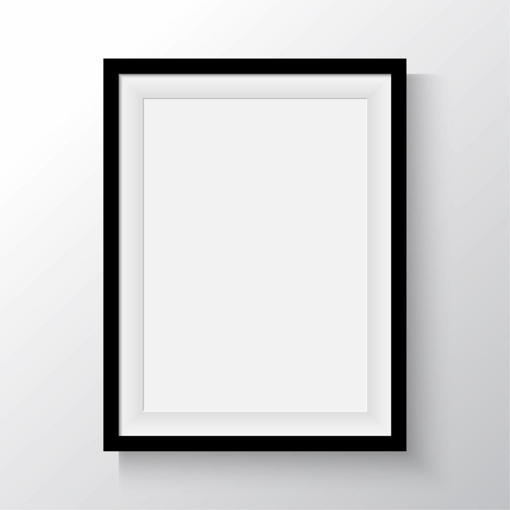 minimalizmus - minimalista kép: fekete keret, fehér kép