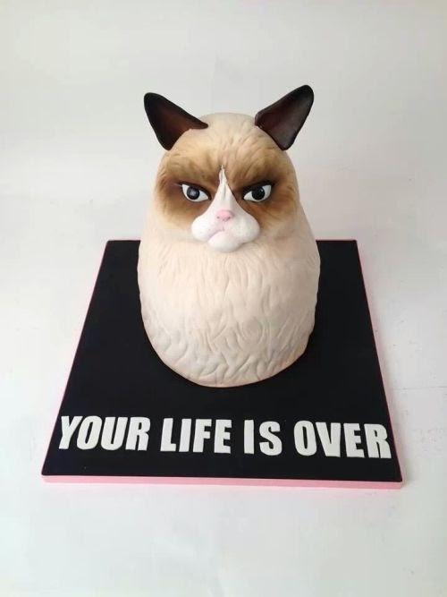 Cukrász alkotások: Grumpy cat tortából