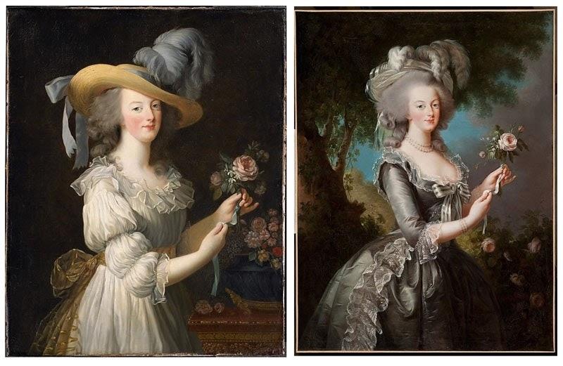Elisabeth Vigee Le Brun - Marie Antoinette, rózsás kép