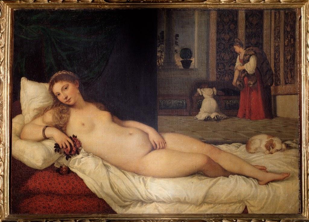 Híres akt festmények: Tiziano, Urbinói Vénusz