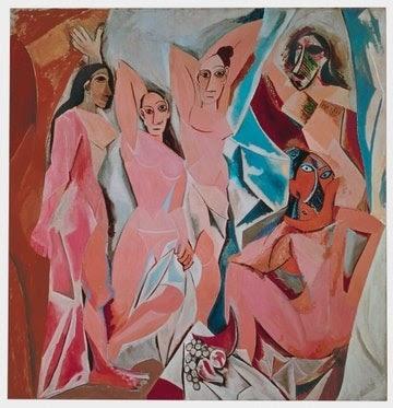 Híres akt festmények: Picasso - Avignoni kisasszonyok