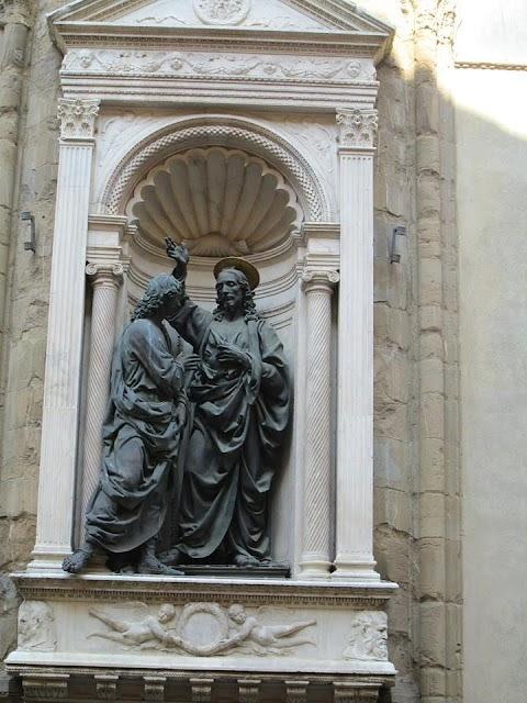 Verrocchio: Krisztus és Szent (hitetlen) Tamás