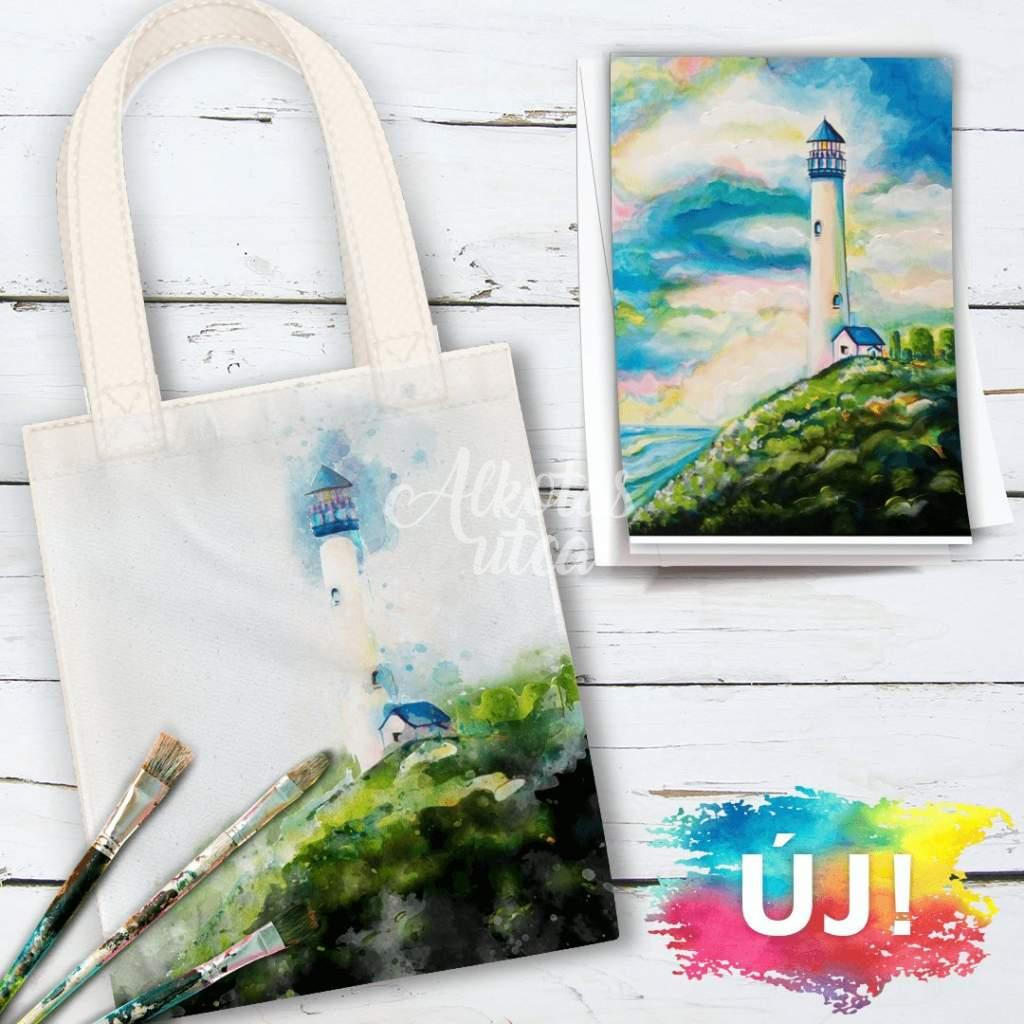 Yaquina Head Lighttower- Tote bag painting