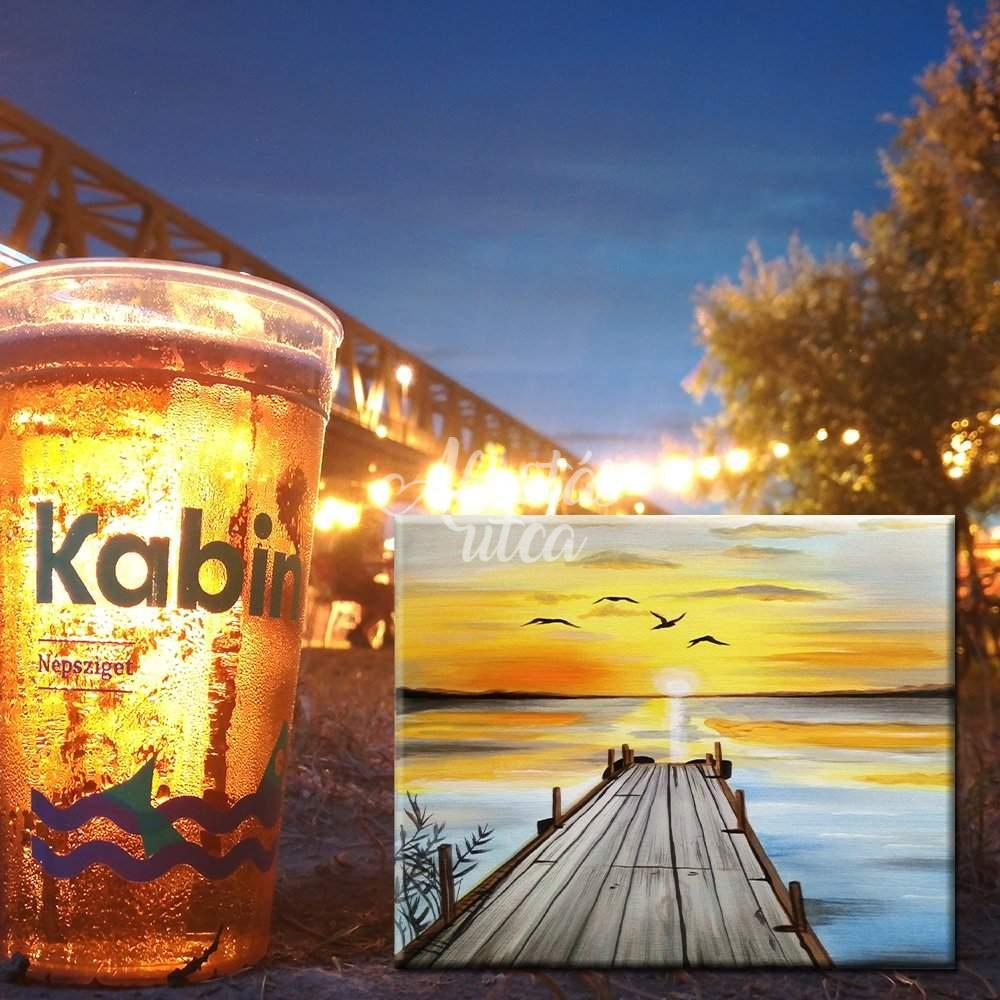 Balaton Summer painting at Kabin
