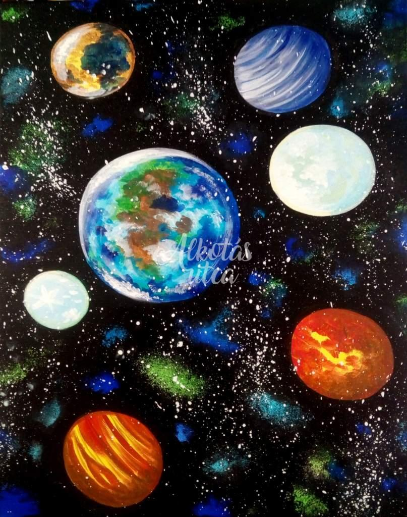 Galaxy - luminous painting