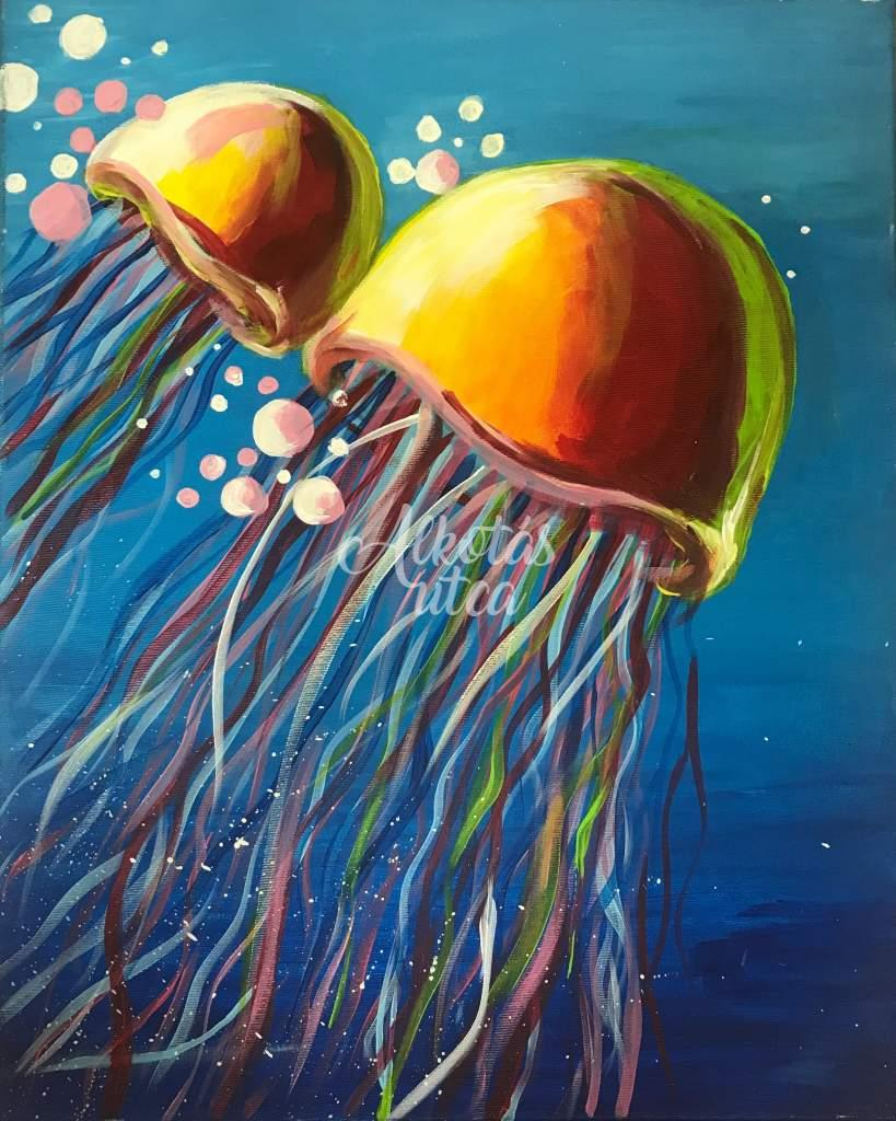 Jellyfish luminous paint
