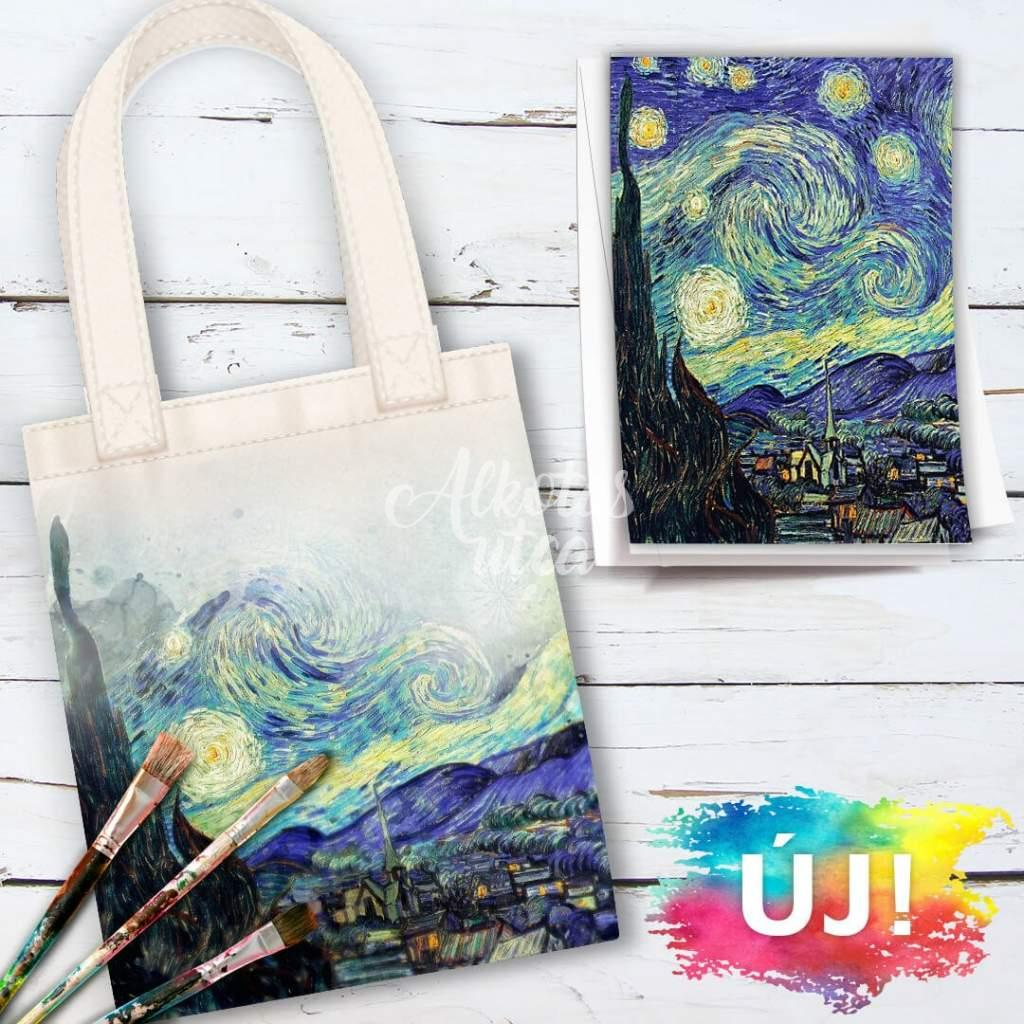 Starry Night-Tote bag painting