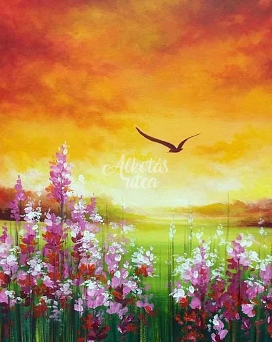 Tavasz a naplementében