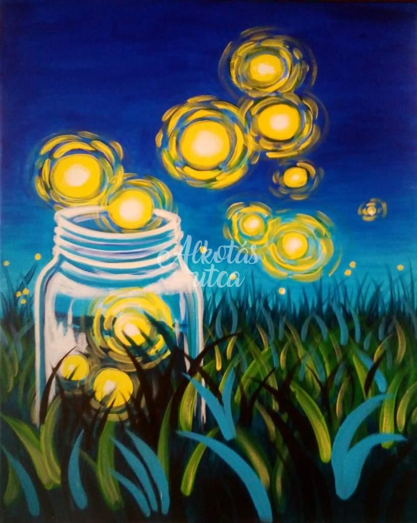 Magical light of the fireflies
